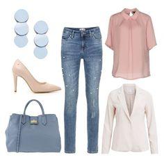2c8b3cdc9f59 Jeans e tacchi  outfit donna Basic per tutti i giorni