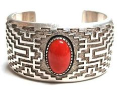 Pawn Collection-Tommy Jackson Shadow Box Coral Cuff