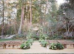 Adriana and Han – Meadowood Wedding  Meadowood is spectacular-  I love how the bride put her ceremony focal point just to the right of overhanging trees- no competition !!