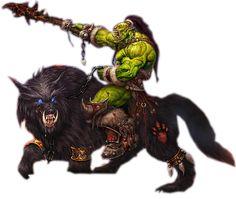 *Katarak Haadalskull, savage orc, warrior/beast rider. With it's war mount *Undergo.