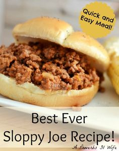 The best sloppy joe recipe you will ever make! Easy to make, from scratch recipe can also be put in the crockpot for make ahead dinners. Try it for yourself