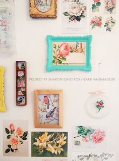 How to make a vintage postcard wall - click through for info