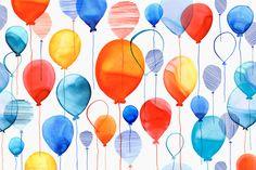 Margaret Berg Art: Overlapping Balloons Pattern