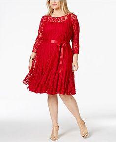 Plus Size Floral Lace Dress