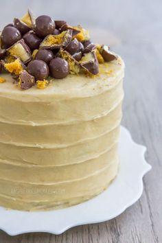 Vanilla Malt Cake with Honeycomb and Maltesers