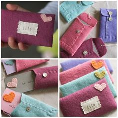 I'm not so into the fake-rustic look, but I love felt and I love the idea of homemade reusable gift pouches instead of wrapping paper.