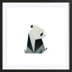 Panda 2 en Affiche encadrée - bois par Anna-Maren Zehnter | JUNIQE