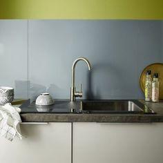 credence en verre gris graphite 60 x 45 cm