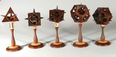 Randy is using African Blackwood, Pink Ivory and Boxwood for these three part sculptures.