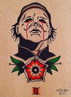 Michael Myers Tattoo Flash