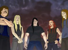 Skwisgar Skwiggelf, taller than a tree. Toki Wartooth, not a bumblebee. William Murderface, Murderface, Murderface. Pickles the Drummer, doodly-do, ding-dong diddly diddly-do. Nathan Explosion. DETHKLOK!