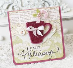 I love this mug and candy cane Christmas Card.