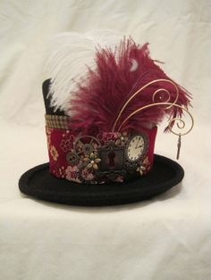 like the accessories....fabric not so much. steampunk hat for women