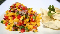Mango Pico de Gallo Yield = 3 cups 1 red bell pepper1 jalapeño2 mangoes½ medium red onion½ cup roughly chopped cilantro¼ cup fresh squeezed lime juice½ teaspoon kosher salt¼ teaspoon sugar