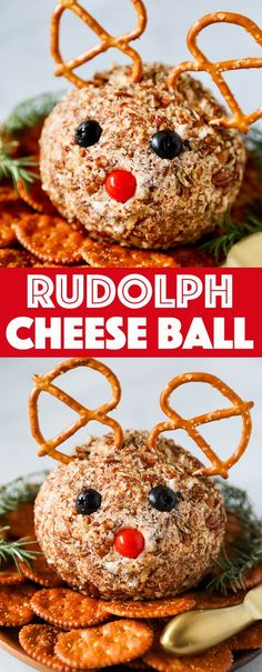 Rudolph Christmas Cheese Ball This Rudolph Cheese Ball Recipe is as adorable as it is tasty! Cheese balls are so easy to make and fun to personalize. The perfect appetizer for making ahead! The post Rudolph Christmas Cheese Ball appeared first on Getränk. Healthy Christmas Recipes, Christmas Food Treats, Christmas Cooking, Holiday Recipes, Vegan Christmas, Christmas Parties, Christmas Foods, Christmas Desserts, Christmas Dinner Recipes