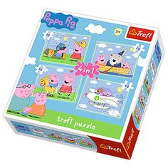 4 in 1 - Peppa op reis / Peppa Pig Puzzel Lawrence Alma Tadema, Josephine Wall, Puzzles 3d, Puzzles For Kids, Cube Puzzle, Puzzle Art, Peppa Pig, Renoir, Claude Monet