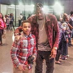 #tbt Bumped into Larry Sanders (Milwaukee Bucks) at the #jordanbrandclassic #gabe3x #youngestdoinit #barclayscenter