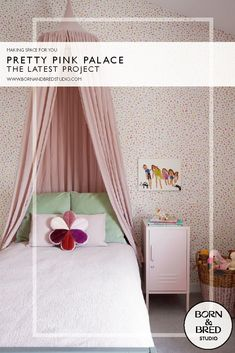 The latest project from Born & Bred Studio, London. Interior Design Companies, Interior Design Studio, Interior Design Inspiration, Creative Inspiration, Color Inspiration, Pink Bedrooms, Girls Bedroom, Princess And The Pea, Inspirational Wallpapers