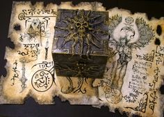 Kala Sampa Cthulhu, Necronomicon Lovecraft, Cursed Objects, Victorian Gothic Decor, Sea Of Thieves, Dark Artwork, Horror Fiction, Occult Art, Magic Box