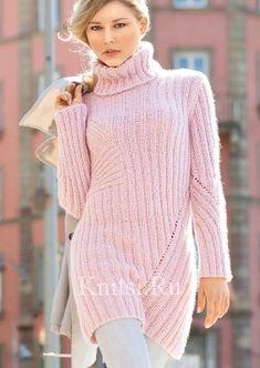 Облегающий удлиненный пуловер