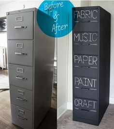 For the old/ugly filing cabinet