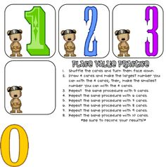 Place value practice (CUTE game!!)