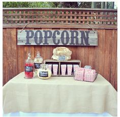 popcorn anyone? Cute movie night idea