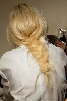 Can't go wrong with a messy fishtail braid