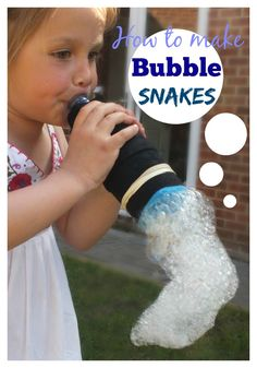 How to make bubble snakes - super simple water play and outdoor fun for kids