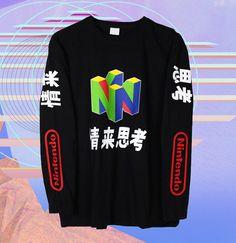 e3e9fdd866a16 N64 Long Sleeve T Shirt Vaporwave Shirt