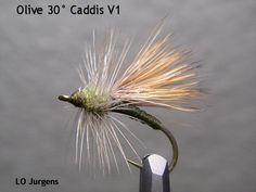 Olive Caddis pattern  (LoJ Ramblins')