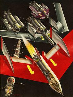 Assembling The Mars Landers ~ 1954
