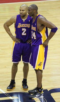 Derek Fisher, Kobe Bryant - http://weheartlakers.com/lakers-players/kobebryant/derek-fisher-kobe-bryant-3