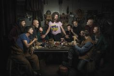 Freddy Fabris. Mechanics Pose For Classical Art In Their Garage, The 'Last Supper' Is A Feast For The Eyes. - http://www.lifebuzz.com/auto-mechanics/