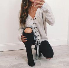 "fashionsensexoxo: ""•  Sweater - HERE •  Jeans - HERE """