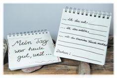 """Notizblock  -  """"Mein Tag war gut, weil..."""" von DaiSign auf DaWanda.com"""