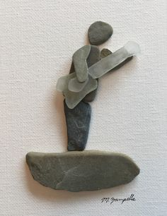 Sea Glass Crafts, Sea Glass Art, Stone Pictures Pebble Art, Stone Art Painting, Kiesel, Unique Gardens, Shell Art, Rock Crafts, Artisanal