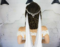 Boho Wedding Hair Accessories Bridal Chain by HairFloaters on Etsy