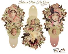glenda's World : Ladies in Pink Fan Card