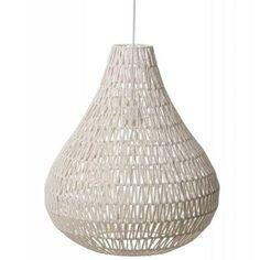 Prachtige hanglamp van Zuiver. Deze Cable Drop white is gemaakt van ijzer en papier. Als je in de avond de verlichting aan zet, dan krijg je van de Cable Drop w