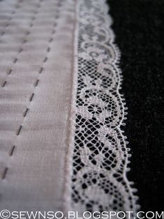 SewNso's Sewing Journal: roll, whip & apply lace in one simple step!