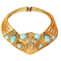 Gold and Turquoise Bib Necklace beautiful Green Turquoise, Turquoise Jewelry, Turquoise Bracelet, Gold Jewelry, Jewellery, Teal, Blue Necklace, Collar Necklace, Bib Necklaces
