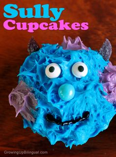 Monsters University Sully Tie-dye Cupcakes