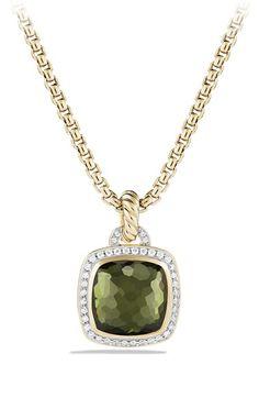 Women's David Yurman 'Albion' Pendant with Lemon Citrine and Diamonds in 18k Gold - Lemon Citrine/ Hematine
