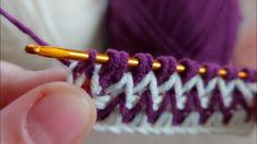 Crochet Stitches Chart, Crochet Basics, Knitting Stitches, Tunisian Crochet, Easy Crochet, Crochet Backpack Pattern, Tapestry Crochet, Crochet Videos, Cross Stitch Flowers