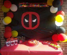 Deadpool party ideas 11th Birthday, 6th Birthday Parties, Birthday Fun, Birthday Ideas, Invitation Card Birthday, Birthday Cake Card, Birthday Party Images, Deadpool, Minion Party