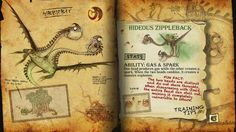 Book Of Dragons - Hideous Zippleback page