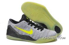 Buy Cheap Nike Kobe 9 2014 Low Weave Grey Black Green Mens Shoes