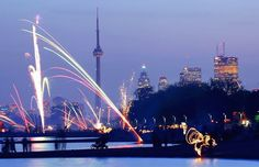 Toronto features a gorgeous fireworks display over Lake Ontario on New Year's Eve. Free Hotel, Four Seasons Hotel, New Travel, New Years Eve Party, City Streets, Fine Art Photography, Fireworks, Places To See, Toronto