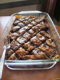 Cup-Tin Creations: German Chocolate Baklava Chocolate Baklava, German Chocolate, Chocolate Food, Chocolate Brownies, Chocolate Recipes, Delicious Desserts, Yummy Food, Dessert Recipes, Baklava Recipe